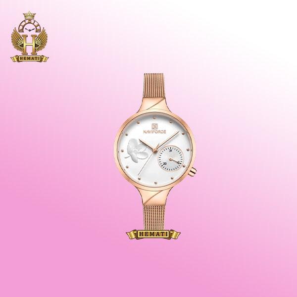 حرید آنلاین ساعت زنانه نیوی فورس مدل NF5001L رزگلد Rosegold