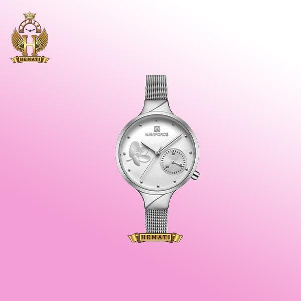 ساعت زنانه نیوی فورس مدل NF5001L نقره ای