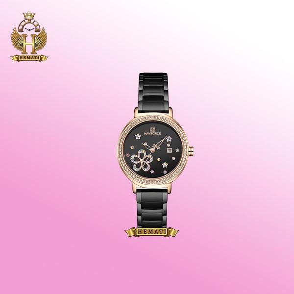 خرید ساعت زنانه نیوی فورس NF5016L مشکی نگین دار