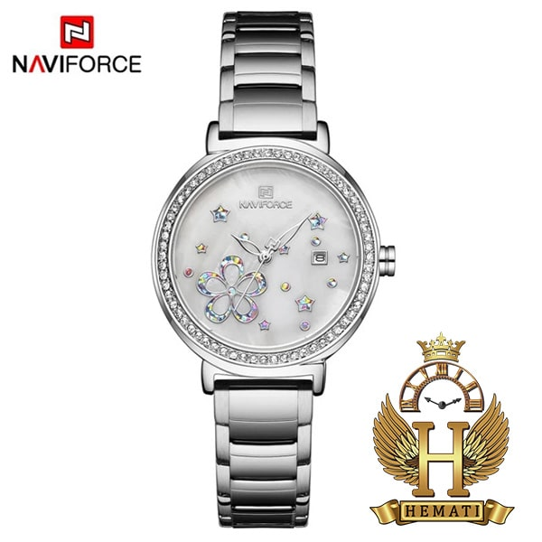 ساعت زنانه نیوی فورس مدل naviforce nf5016l نقره ای
