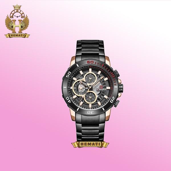 ساعت مردانه نیوی فورس مدل Naviforce NF9174M مشکی با لبه های رزگلد