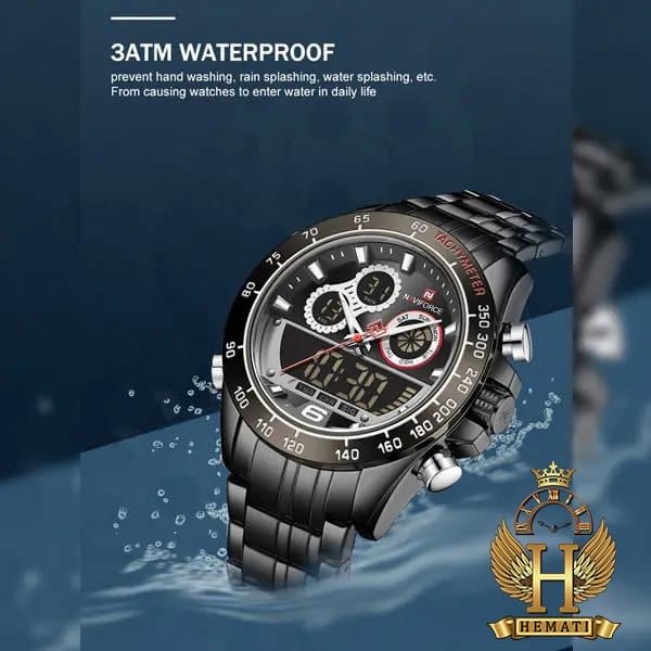 خرید ساعت مردانه دو زمانه نیوی فورس مدل naviforce nf9188m مشکی