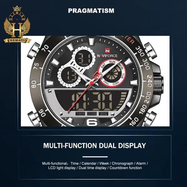 قیمت ساعت مردانه دو زمانه نیوی فورس مدل naviforce nf9188m مشکی