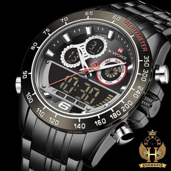 مشخصات ساعت مردانه دو زمانه نیوی فورس مدل naviforce nf9188m مشکی