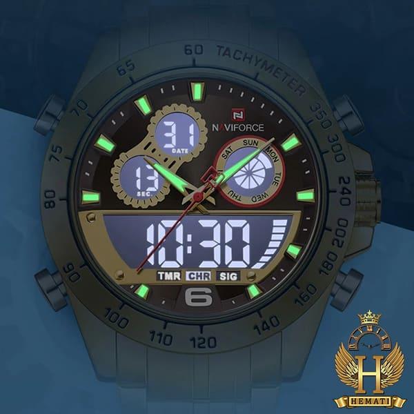 قیمت ساعت مردانه دو زمانه نیوی فورس مدل naviforce nf9188m کافی رزگلد