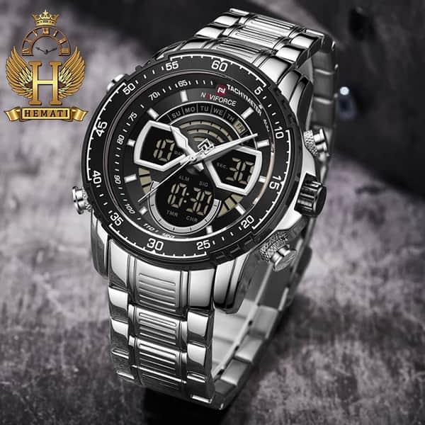 قیمت ساعت مردانه دو زمانه نیوی فورس مدل naviforce nf9189m نقره ای