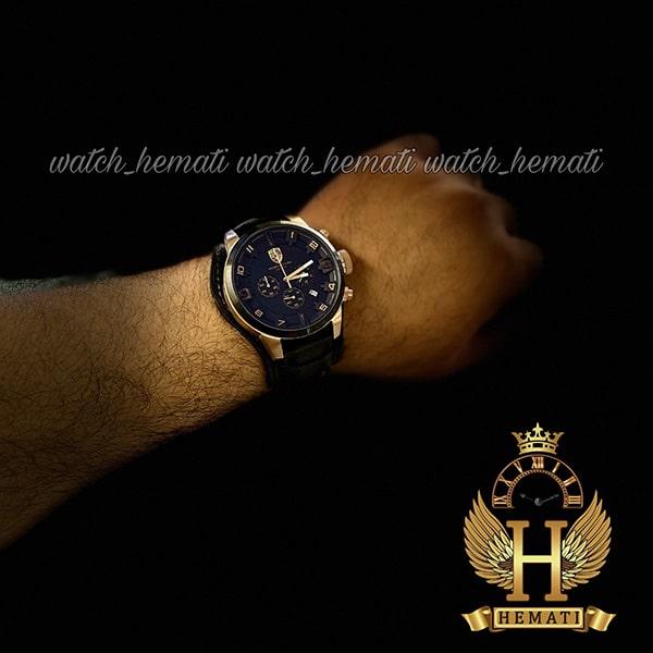 خرید اینترنتی ساعت مردانه پورشه دیزاین PORSCHE DESIGN JP-24056M POD100 بند چرم مشکی ، قاب مشکی رزگلد