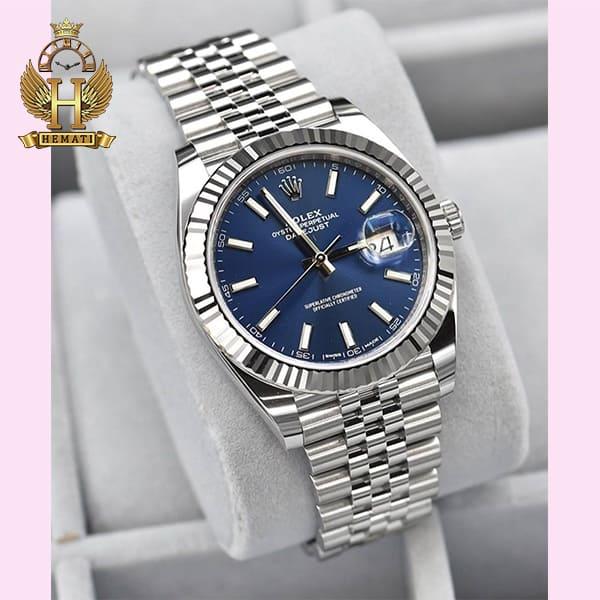 خرید انلاین ساعت مردانه رولکس دیت جاست اتوماتیک Rolex Datejust RODJAM101 قاب و بند نقره ای ، صفحه سرمه ای