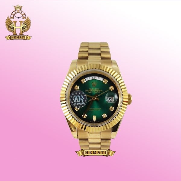 ساعت مچی مردانه رولکس دی دیت Rolex day date dd24 موتور اتومات صفحه سبز