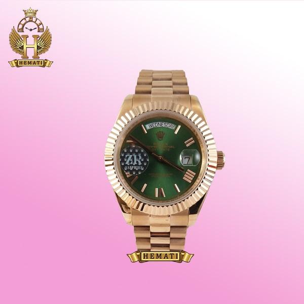 ساعت مردانه رولکس دی دیت Rolex day date dd49 اتوماتیک طلایی صفحه سبز