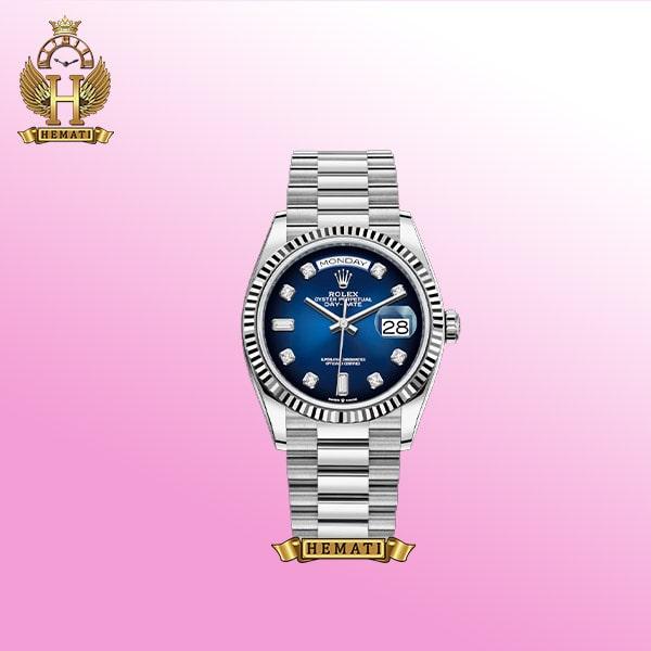 ساعت مردانه رولکس دی دیت Rolex day date DD76 موتور اتوماتیک نقره ای
