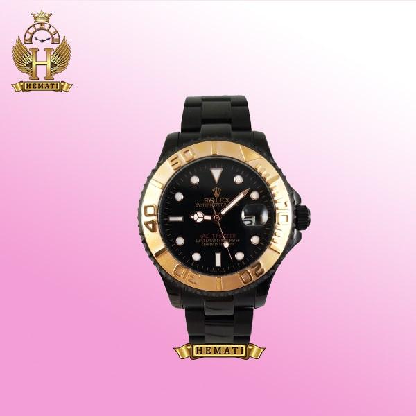 ساعت رولکس یاخ مستر Yacht master Y65 مشکی قاب طلایی هایکپی