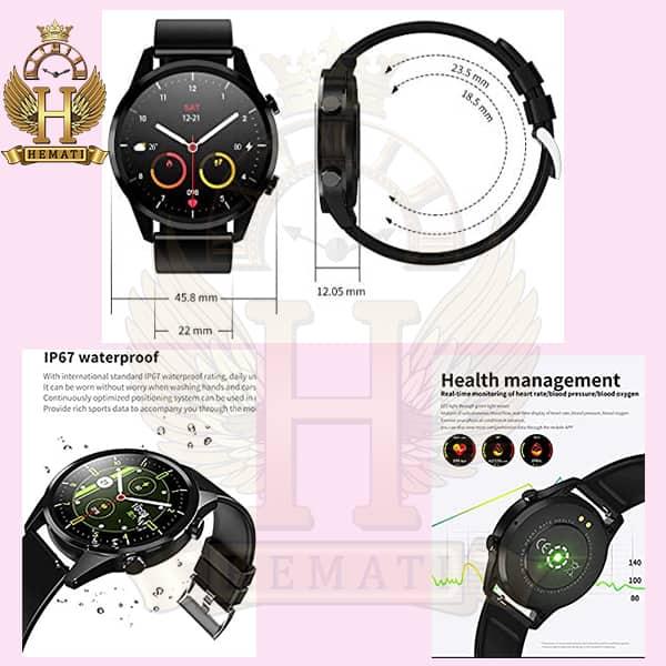 مشخصات ساعت هوشمند صفحه دایره ای مدل SMART WATCH F35 2020