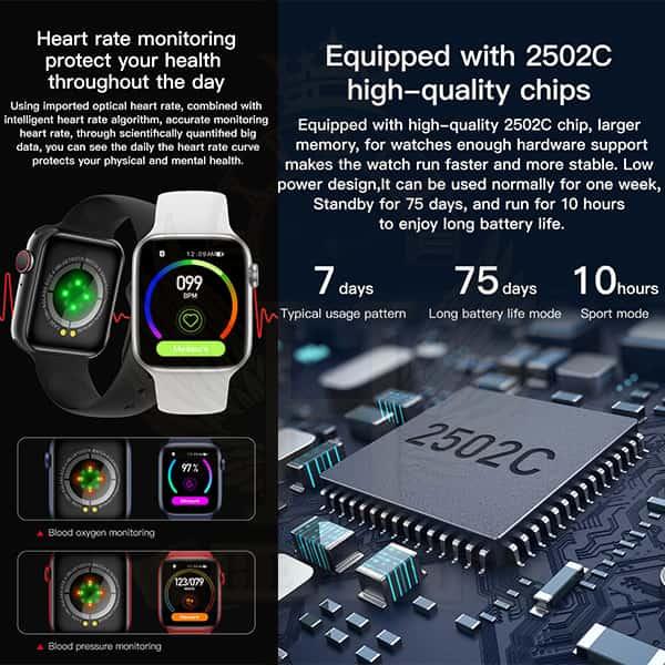 مشخصات ساعت هوشمند مدل X16 رنگ تمام مشکی