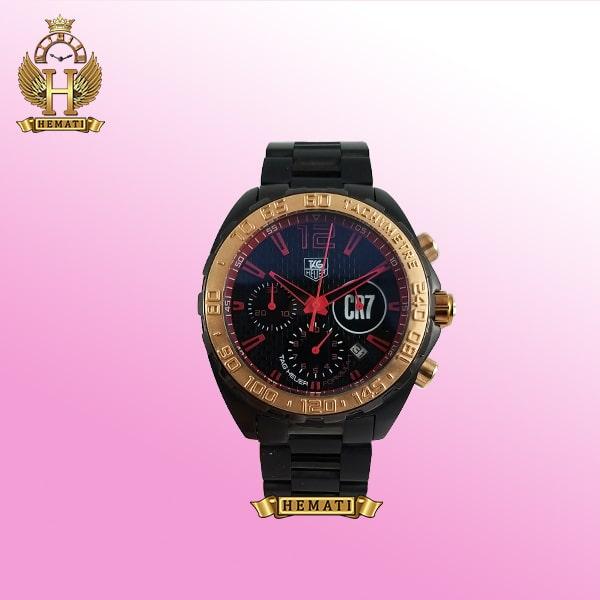 خرید ساعت مردانه تگ هویر TAG HEUER CR7 SINCE 1860 ساعتمچی مردانه تگ هویر مشکی رزگلد مدل کریس رونالدو