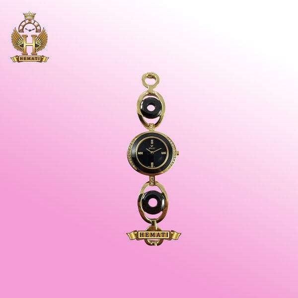 خرید VIOLET 0377L ساعت مچی زنانه ویولت اورجینال طلایی سرامیک مشکی همراه گارانتی و جعبه و پاکت شرکتی