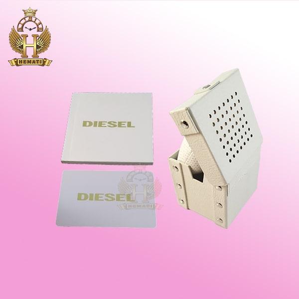 خرید جعبه اورجینال ساعت دیزل چرم سفید همراه پاکت