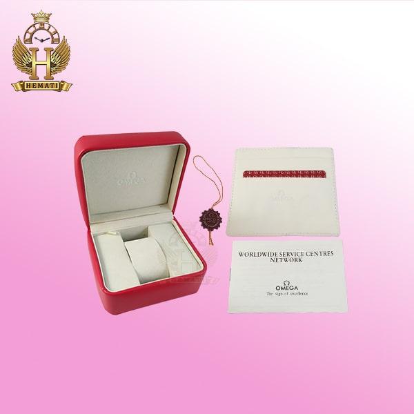 قیمت جعبه اورجینال ساعت امگا همراه پاکت رنگ قرمز