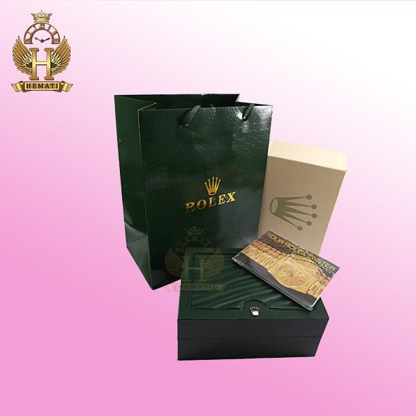 جعبه ساعت رولکس اورجینال همراه دفترچه و کارت گارانتی
