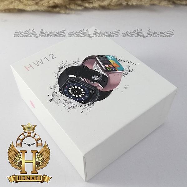 خریذ ارزان ساعت هوشمند 2021 Smart Watch HW12 قاب رزگلد و بند صورتی