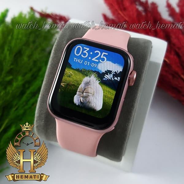 قیمت ساعت هوشمند 2021 Smart Watch HW12 قاب رزگلد و بند صورتی