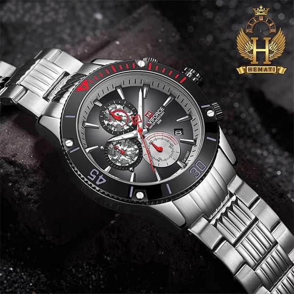 خرید اینترنتی ساعت مردانه نیوی فورس مدل naviforce nf9173m نقره ای مشکی
