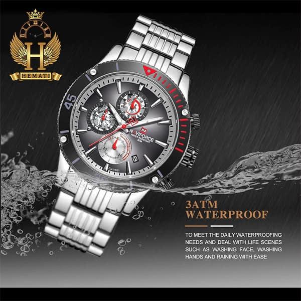خرید انلاین ساعت مچی مردانه نیوی فورس مدل naviforce nf9173m نقره ای مشکی