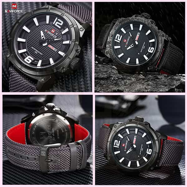 خرید ساعت مردانه نیوی فورس مدل naviforce nf9066m مشکی