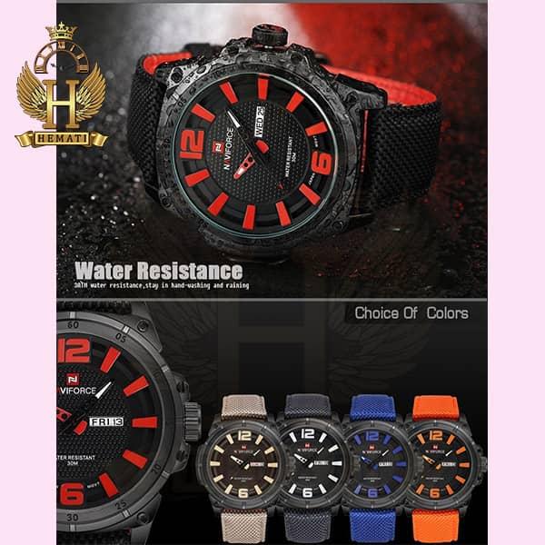ساعت مردانه نیوی فورس مدل naviforce nf9066m مشکی قرمز