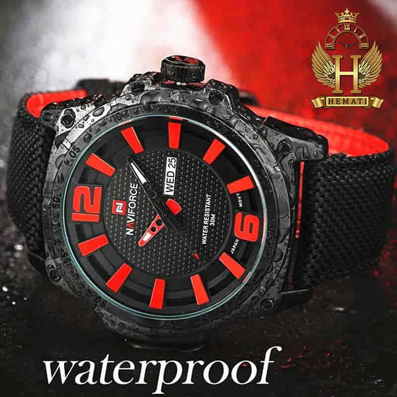 قیمت ساعت مردانه نیوی فورس مدل naviforce nf9066m مشکی قرمز