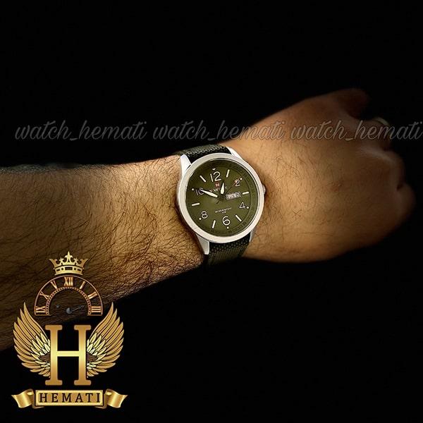 خرید انلاین ساعت مردانه نیوی فورس مدل naviforce nf9101m قاب نقره ای صفحه و بند سبز