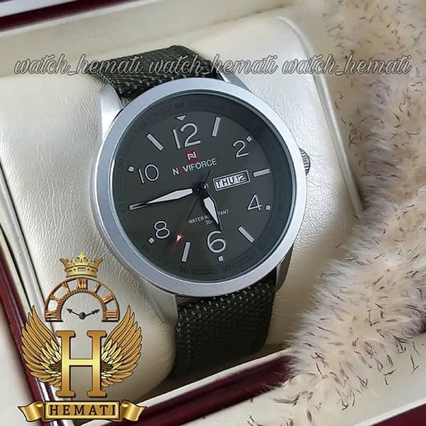 مشخصات ساعت مچی مردانه نیوی فورس مدل naviforce nf9101m قاب نقره ای صفحه و بند سبز