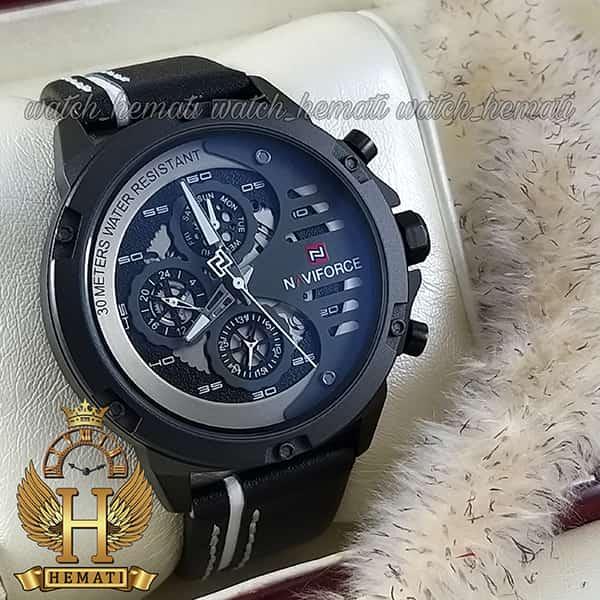 خرید ساعت مچی مردانه نیوی فورس مدل naviforce nf9110m مشکی سفید