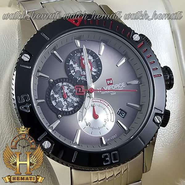خرید ساعت مردانه نیوی فورس مدل naviforce nf9173m نقره ای مشکی