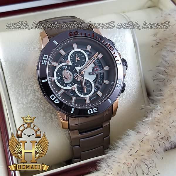 خرید ساعت مچی مردانه نیوی فورس مدل naviforce nf9174m مشکی رزگلد