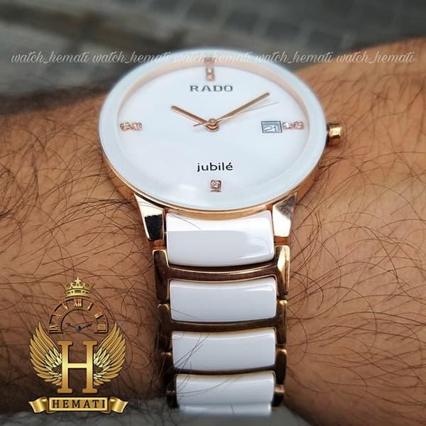 خرید ساعت مردانه رادو دیا استار جوبیل Rado Diastar Jubile RDM102 سفید-رزگلد های کپی