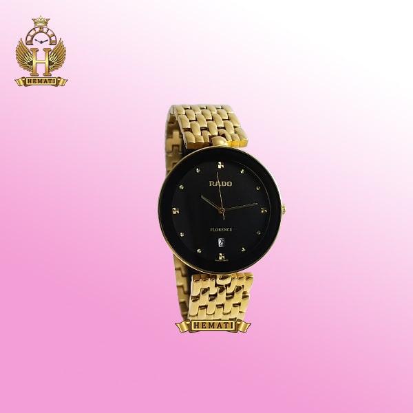 خرید ساعت زنانه رادو فلورانس Rado Florence RDFOL100 قاب و بند طلایی دور قاب و صفحه مشکی