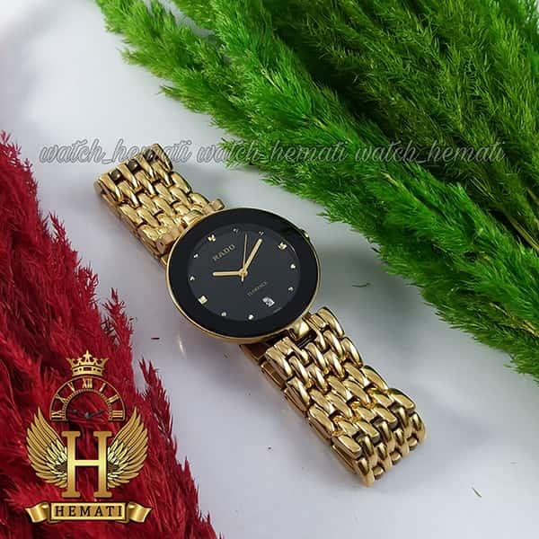 خرید ارزان ساعت زنانه رادو فلورانس Rado Florence RDFOL100 قاب و بند طلایی دور قاب و صفحه مشکی
