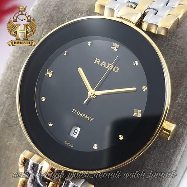 خرید اینترنتی ساعت زنانه رادو فلورانس Rado Florence RDFOL102 رنگ قاب و بند نقره ای-طلایی ، رنگ صفحه مشکی