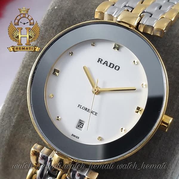 قیمت ساعت مچی زنانه رادو فلورانس Rado Florence RDFOL102 رنگ قاب و بند نقره ای-طلایی ، رنگ صفحه سفید