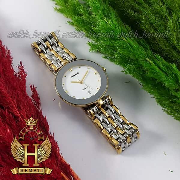 مشخصات ساعت مچی زنانه رادو فلورانس Rado Florence RDFOL102 رنگ قاب و بند نقره ای-طلایی ، رنگ صفحه سفید