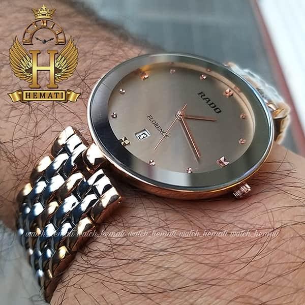 خرید ، قیمت ، مشخصات ساعت رادو مردانه فلورانس Rado Florence RDFOM101 نقره ای-رزگلد ، کیفیت های کپی