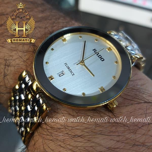 قیمت ساعت مردانه رادو فلورانس Rado Florence RDFOM102 نقره ای-طلایی ،صفحه نقره ای، کیفیت های کپی