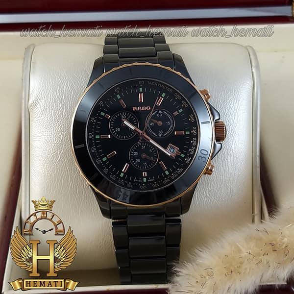 خرید ، قیمت ، مشخصات ساعت مردانه رادو سرامیکی Rado 034G قاب و بند تمام سرامیک مشکی