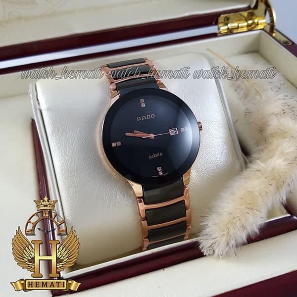 خرید اینترنتی ساعت مردانه رادو دیا استار جوبیل Rado Diastar Jubile RDM101 مشکی-رزگلد ، های کپی