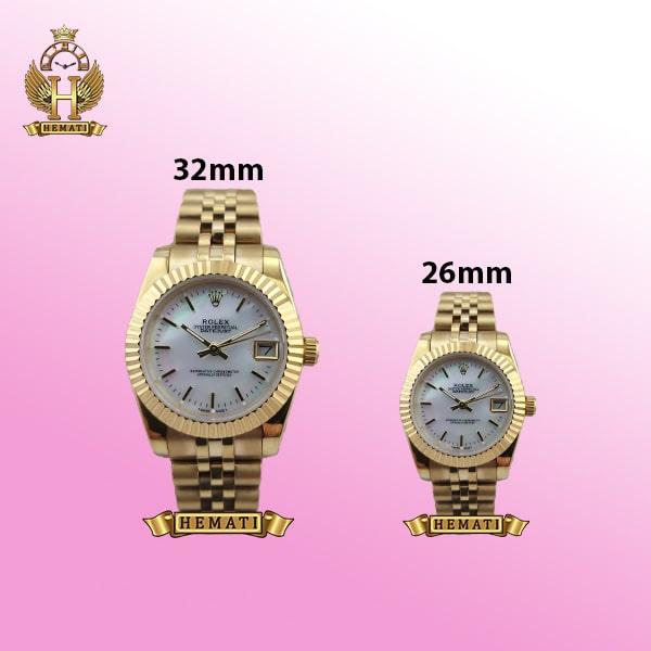 ساعت زنانه رولکس دیت جاست Rolex Datejust RODJL200 طلایی (صفحه-سفید صدف)