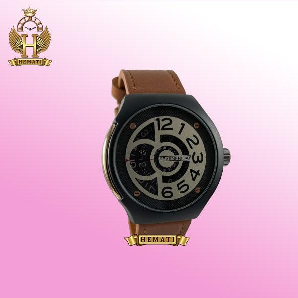 خرید ساعت مردانه سون فرایدی مدل sfm201 8715 بند عسلی صفحه ساعت طوسی