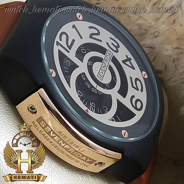 ساعت سون فرایدی های کپی ارزان قیمت مردانه مدل sfm201 8715 بند عسلی صفحه ساعت طوسی