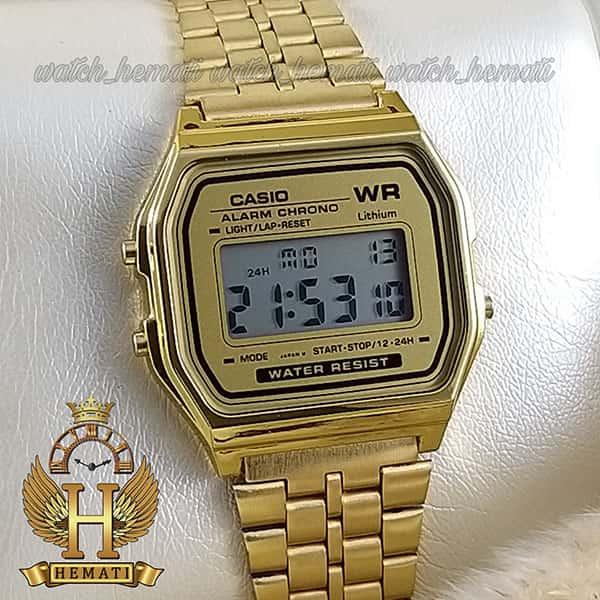 ساعت اسپرت کاسیو نوستالژی CASIO A159WA-N1DF طلایی