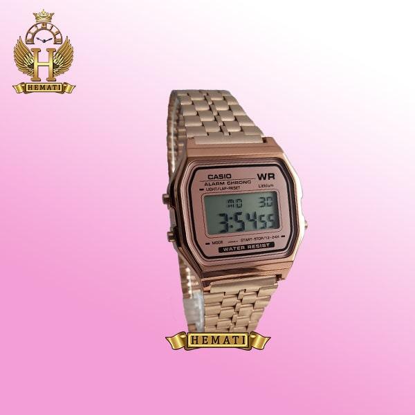 خرید ساعت اسپرت کاسیو CASIO R240S رزگلد دیجیتالی کپی